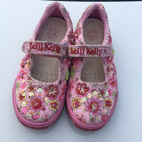 44653f77099 Lelli Kelly Kids Other - Lelli Kelly beaded Mary Jane toddler shoes size 28